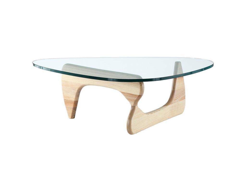 Stolek dřevěný STABLE sklo/dřevo