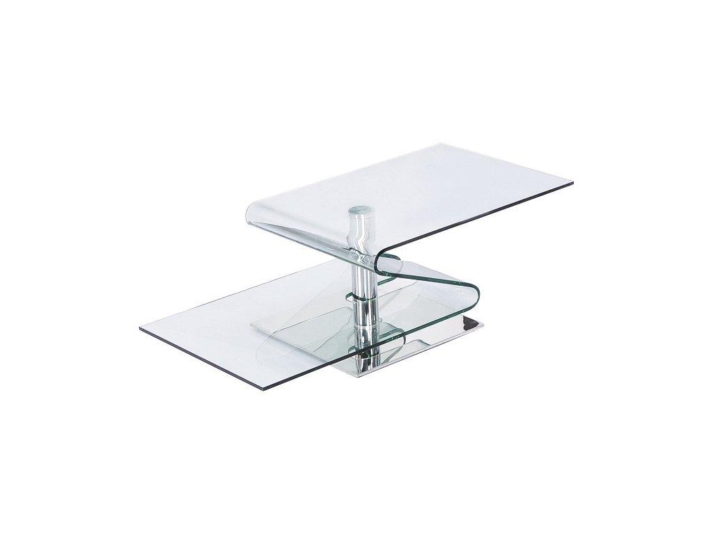 Stolek skleněný TONIN transparentní sklo/kov