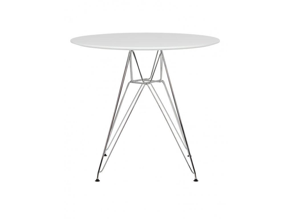 Stůl DSR * 80 - nohy kovové deska mdf bílý/kulatý