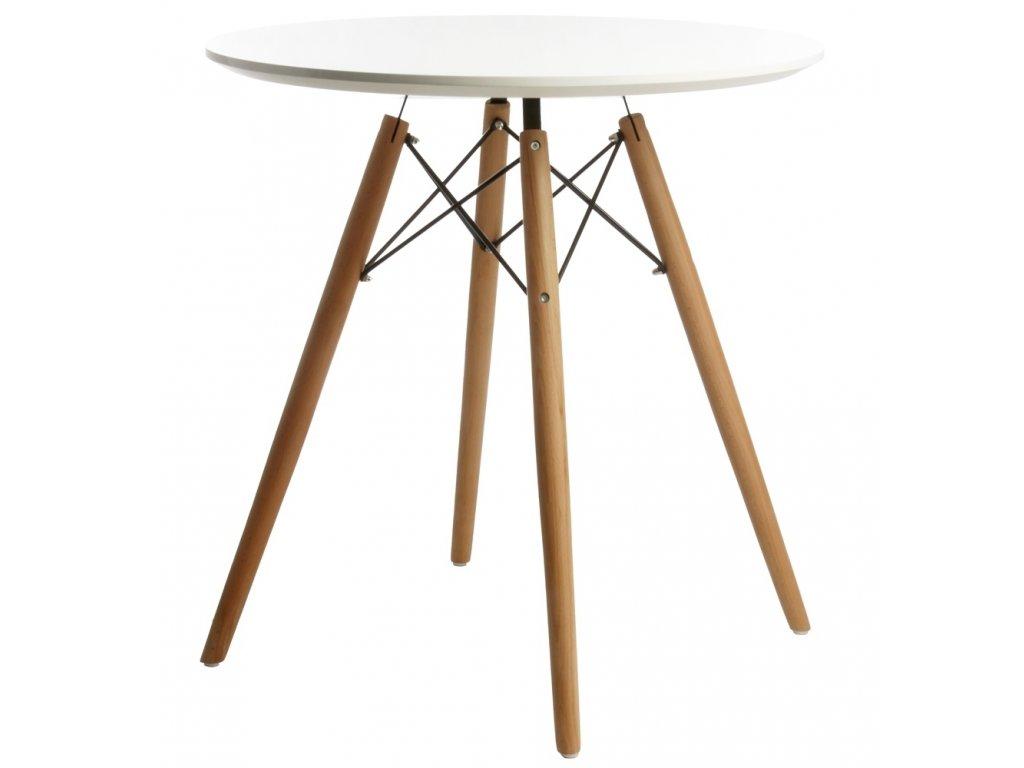 Stůl DSW * 70 - deska mdf bílý noha dřevěná