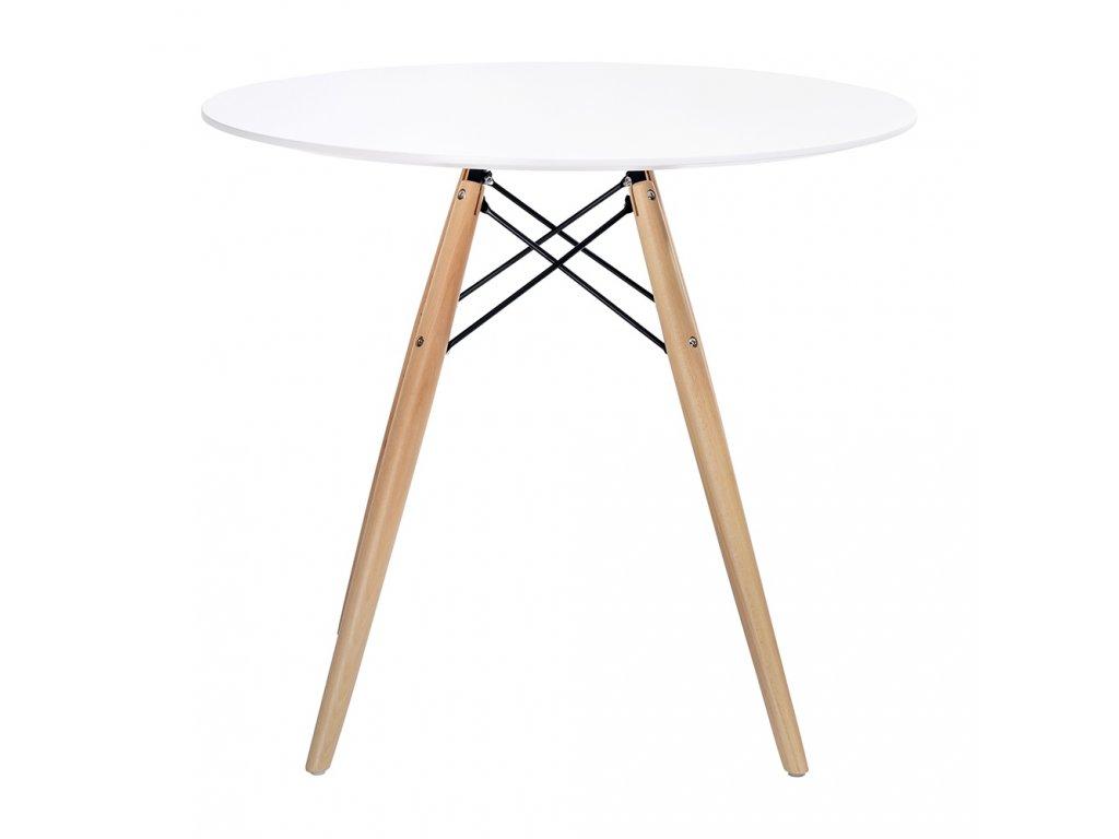 Stůl DSW * 80 - deska mdf bílý noha dřevěná