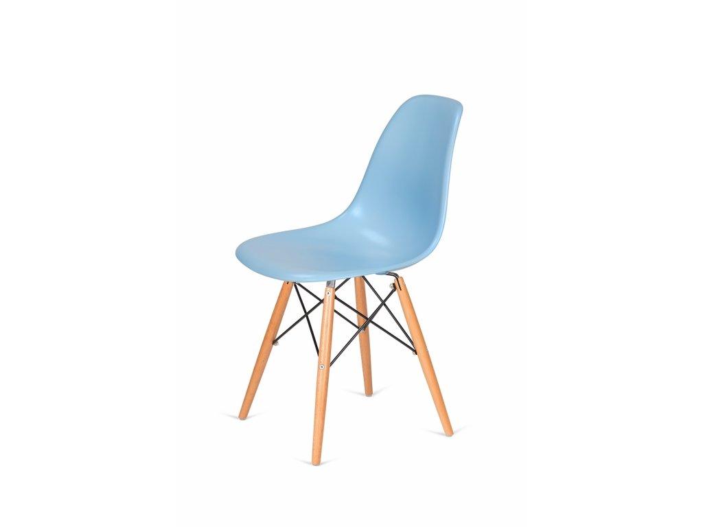 Židle 130-cas1 blankytná #11 abs + nohy bukové