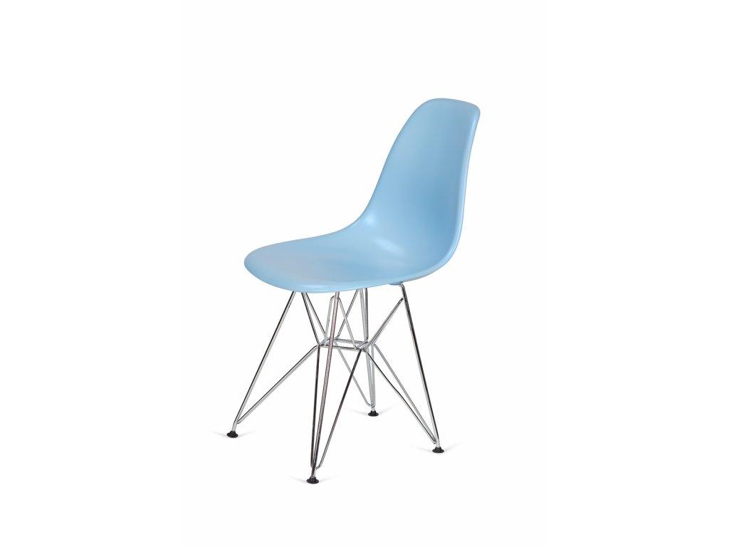 Židle 130-cas1 blankytná #11 abs + nohy chromové