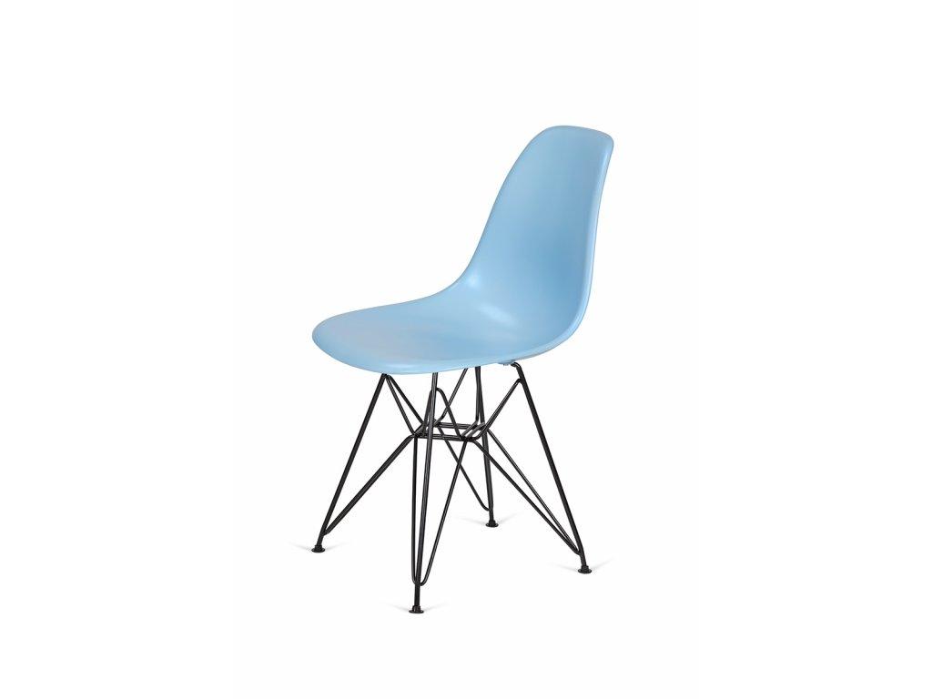 Židle 130-cas1 blankytná #11 abs + nohy kovové černá