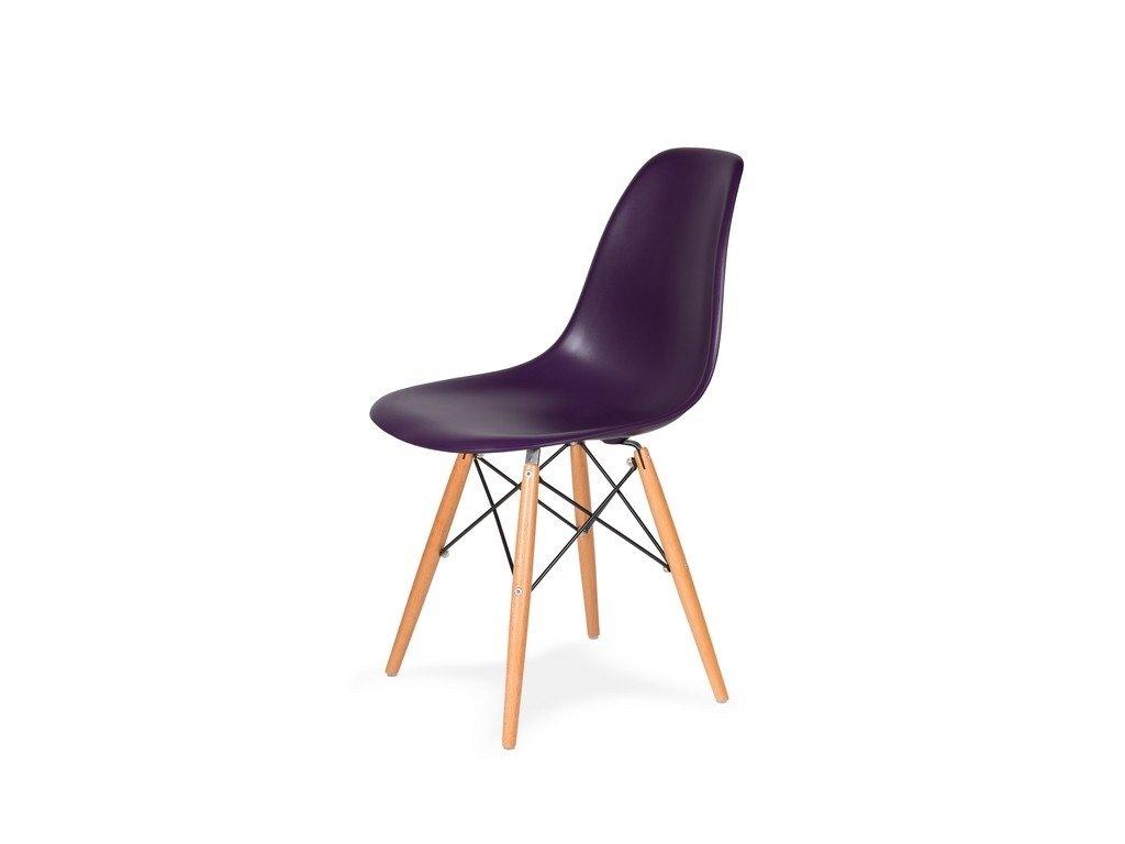 Židle 130-cas1 fialová purpur #39 abs + nohy bukové