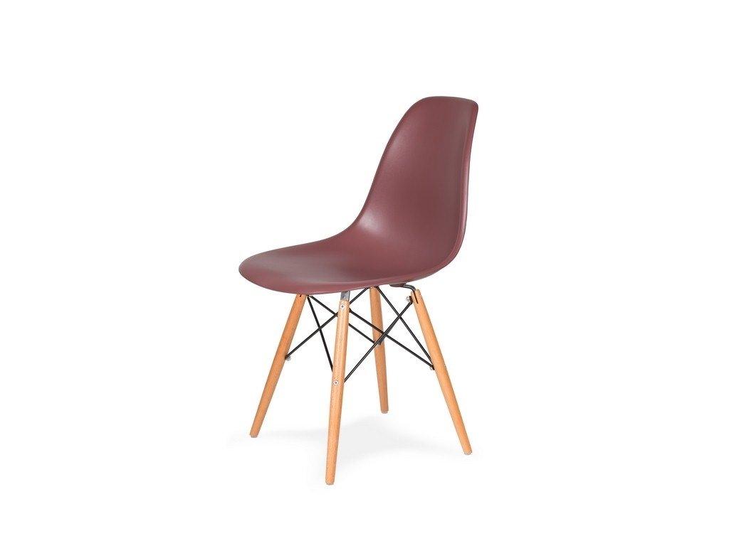 Židle 130-cas1 koktejl malinová #38 pp + nohy bukové