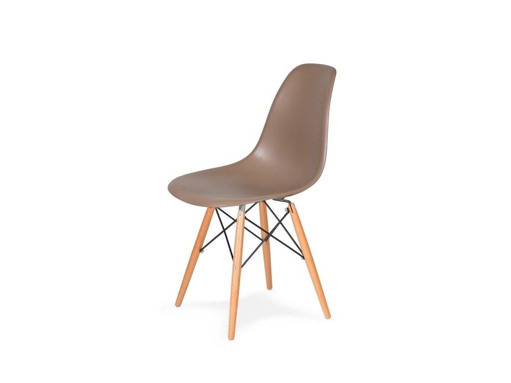 Židle 130-cas1 káva mocca #35 abs + nohy bukové