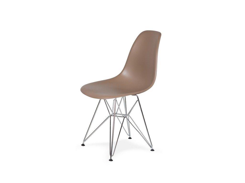 Židle 130-cas1 káva mocca #35 abs + nohy chromové