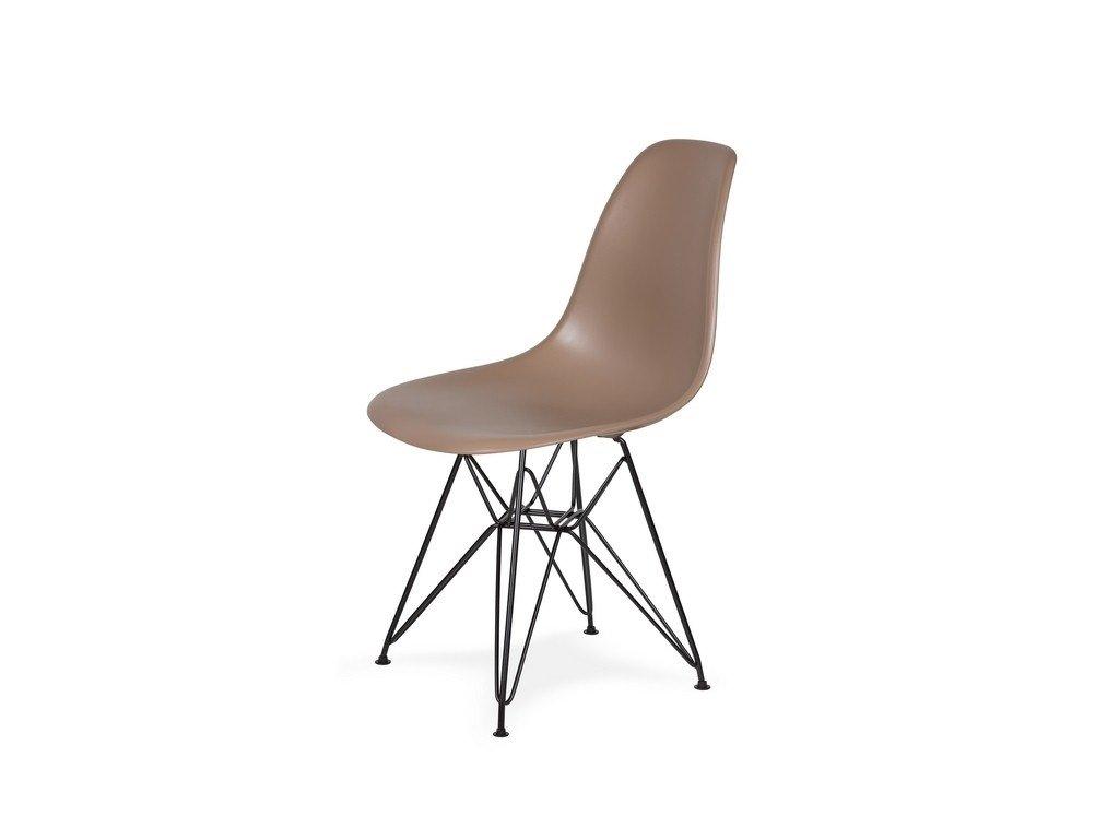 Židle 130-cas1 káva mocca #35 abs + nohy kovové černá