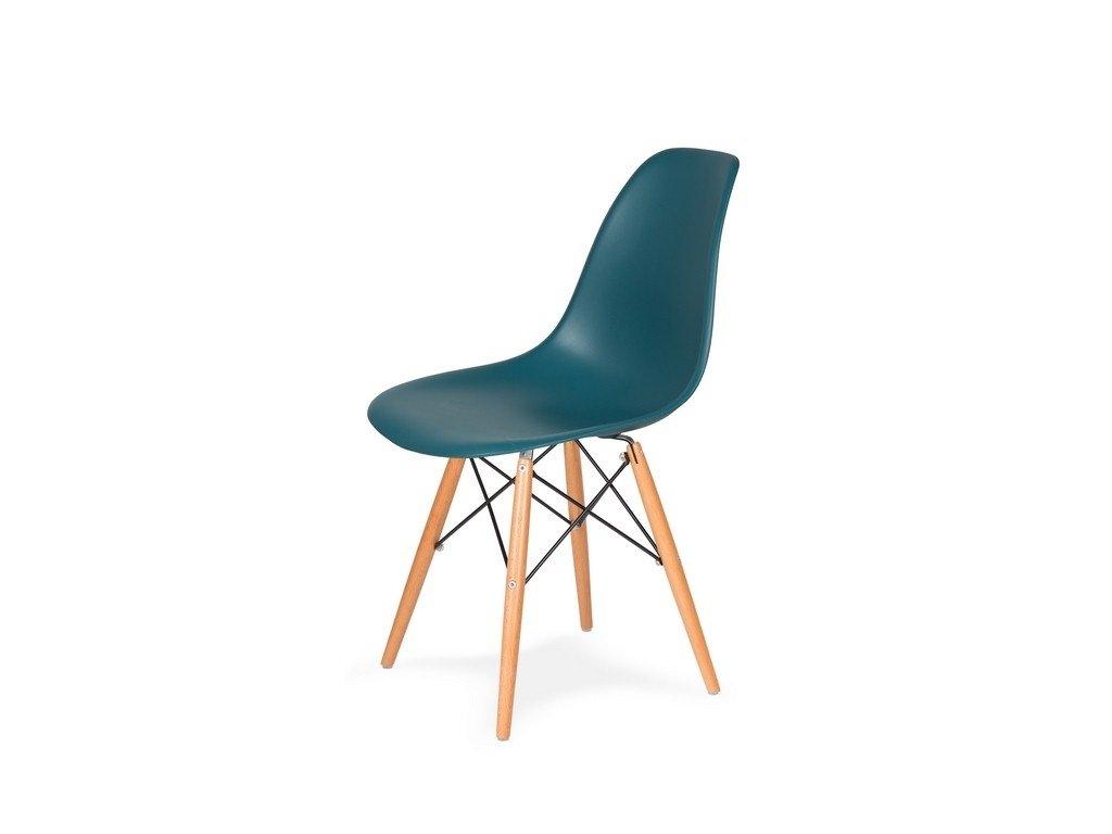 Židle 130-ddp mořsky modrá #23 PP + nohy bukové