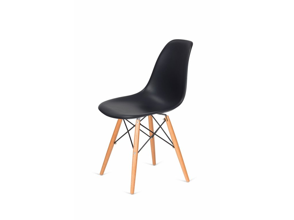Židle 130-DPP asfaltová šedá #39 PP + nohy bukové