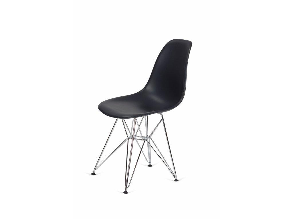 Židle 130-DPP asfaltová šedá #39 PP + nohy chromové