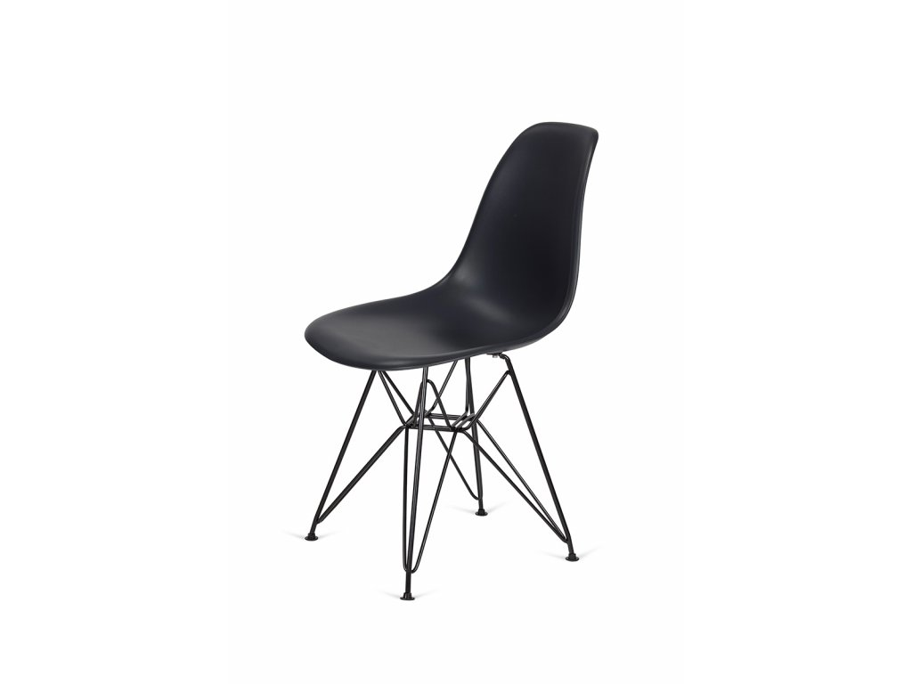 Židle 130-DPP asfaltová šedá #39 PP + nohy kovové černá