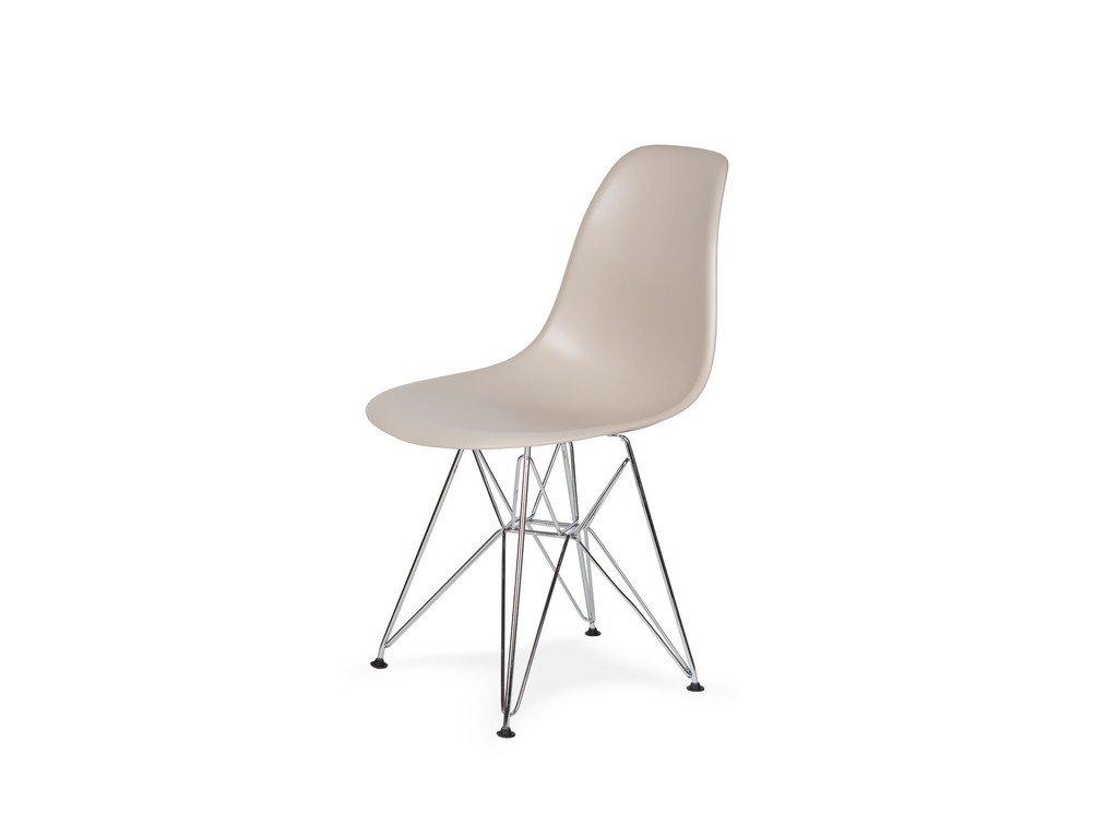 Židle 130-DPP béžová #18 PP + nohy chromové