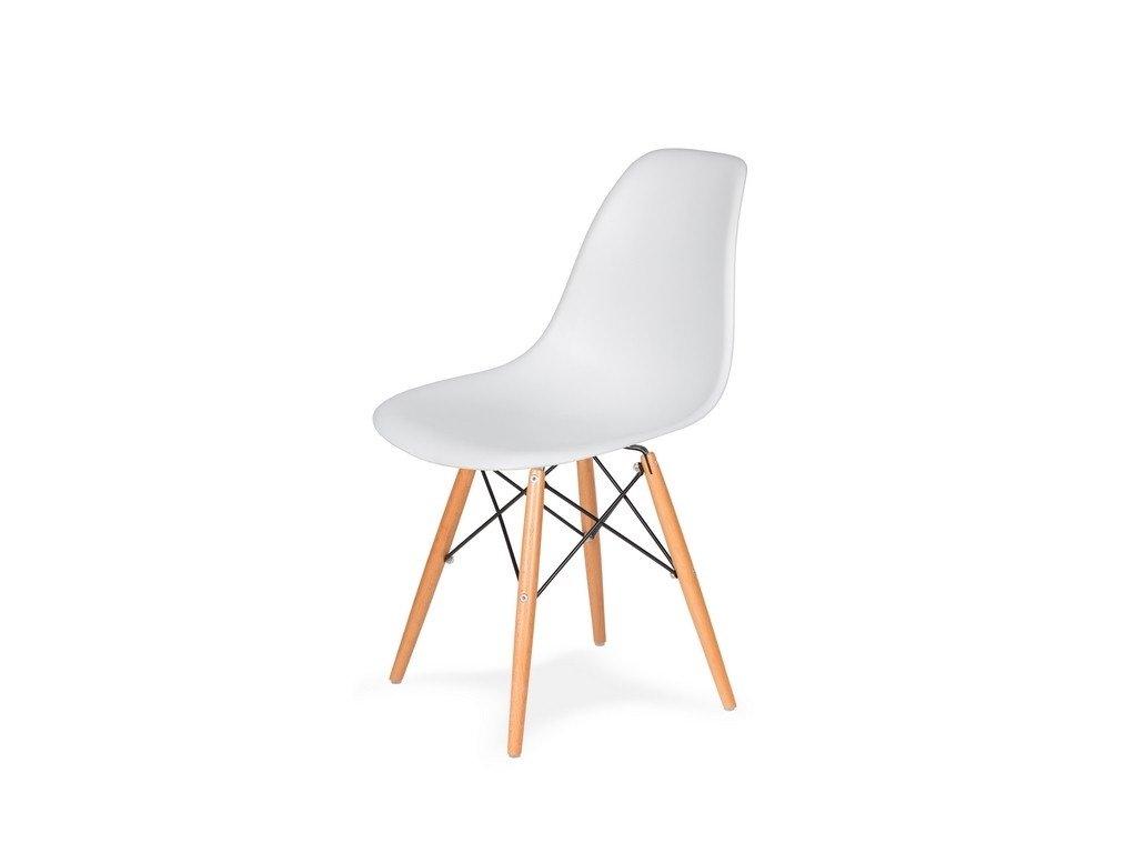 Židle 130-DPP bílá #01 abs + nohy bukové