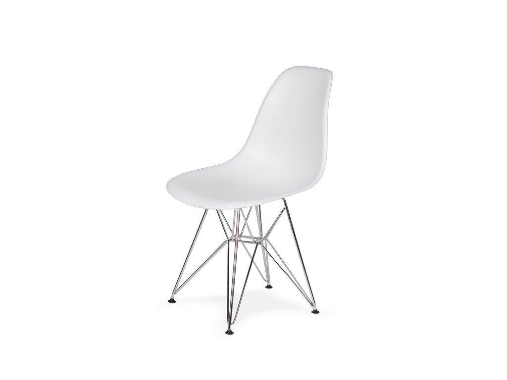 Židle 130-DPP bílá #01 abs + nohy chromové