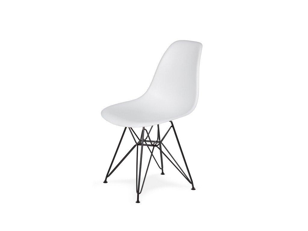 Židle 130-DPP bílá #01 abs + nohy kovové černá
