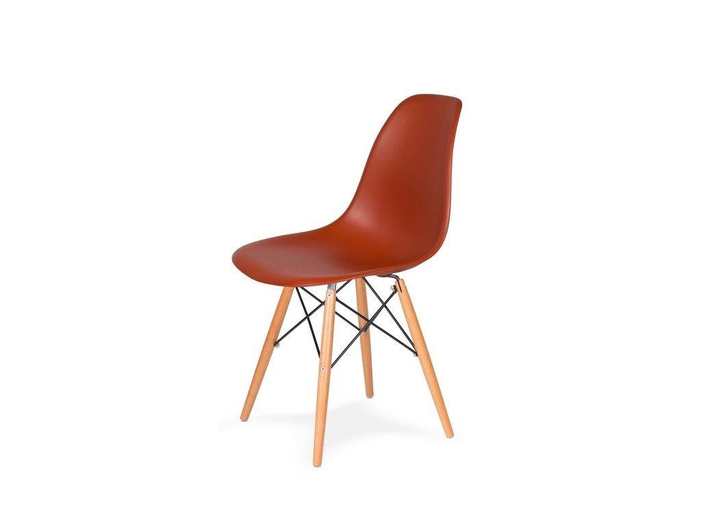 Židle 130-DPP cihlová #28 PP + nohy bukové