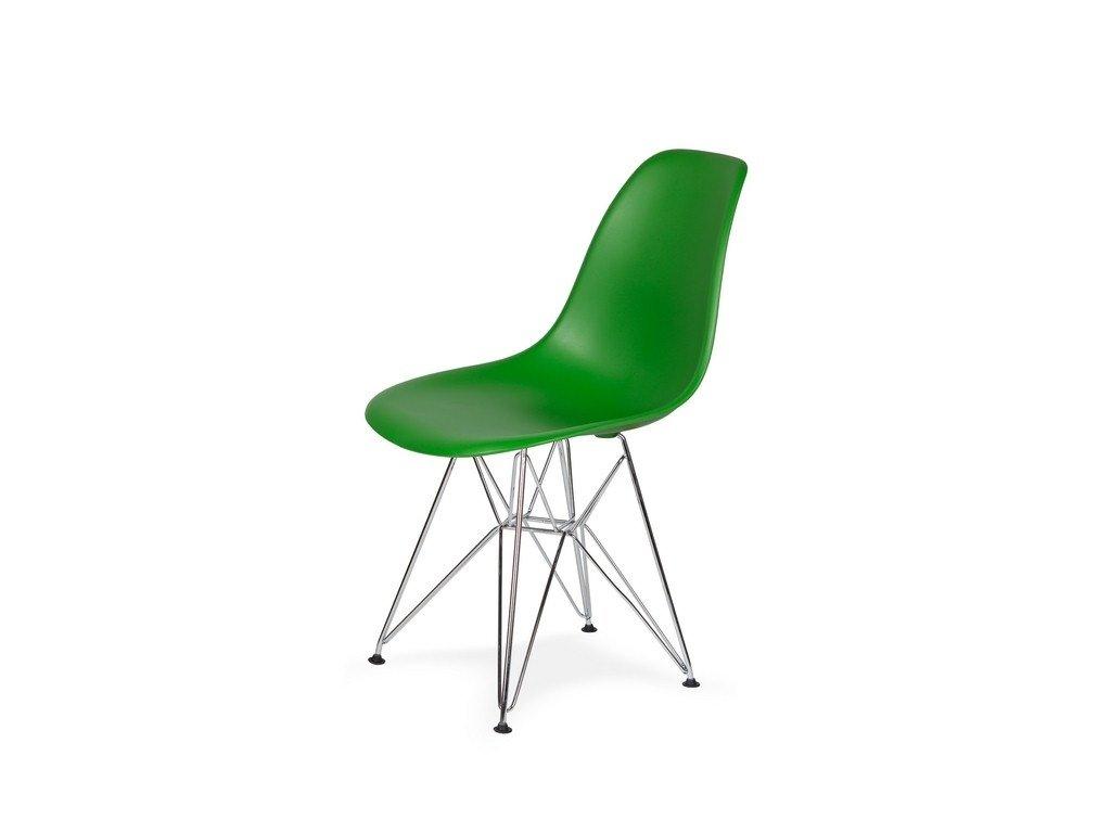 Židle 130-DPP irská zeleň #21 PP + nohy chromové