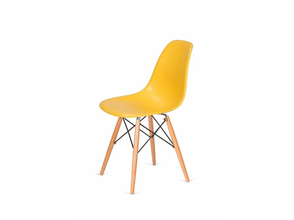 Židle 130-DPP kanárková #30 PP + nohy bukové