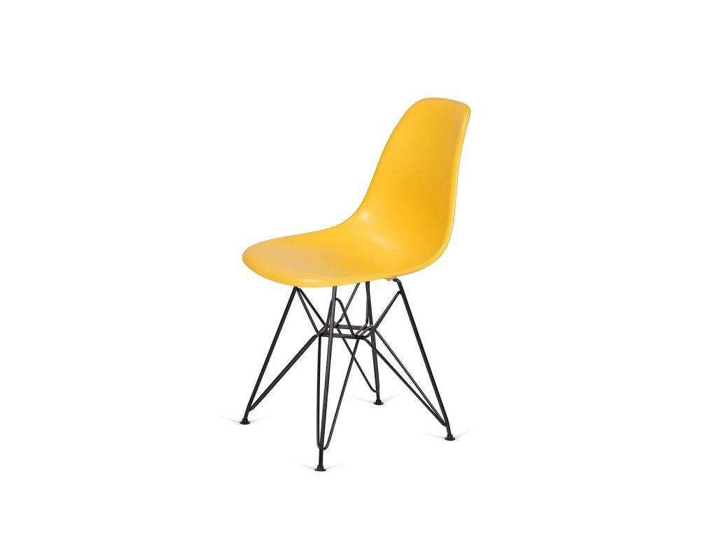 Židle 130-DPP kanárková #30 PP + nohy kovové černá