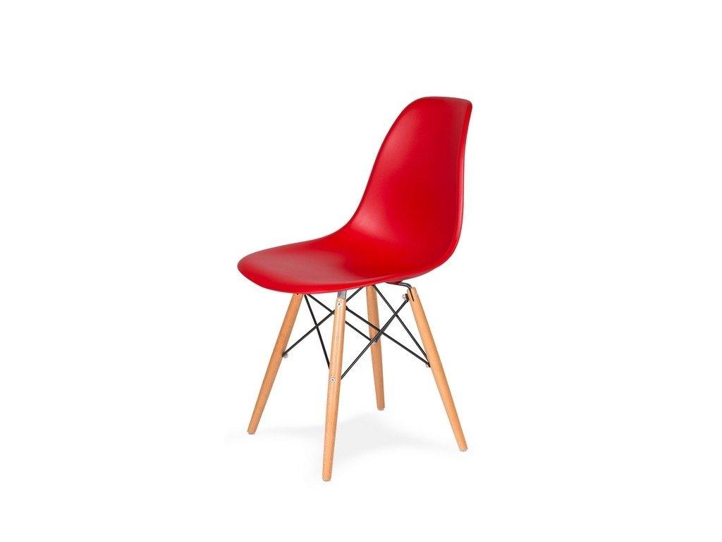 Židle 130-DPP krvavě červená #06 PP + nohy bukové