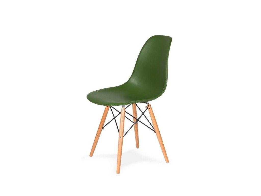 Židle 130-DPP lahvová zeleň #27 PP + nohy bukové