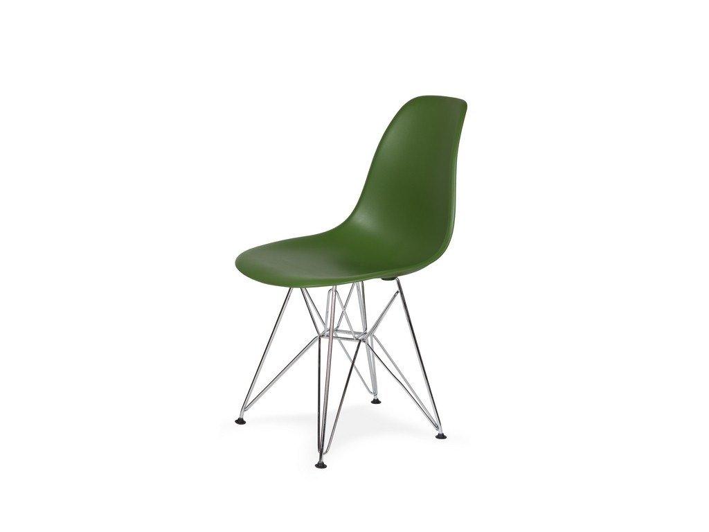 Židle 130-DPP lahvová zeleň #27 PP + nohy chromové