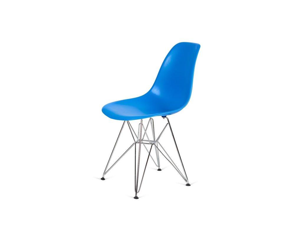 Židle 130-DPP modrá #11 PP + nohy chromové