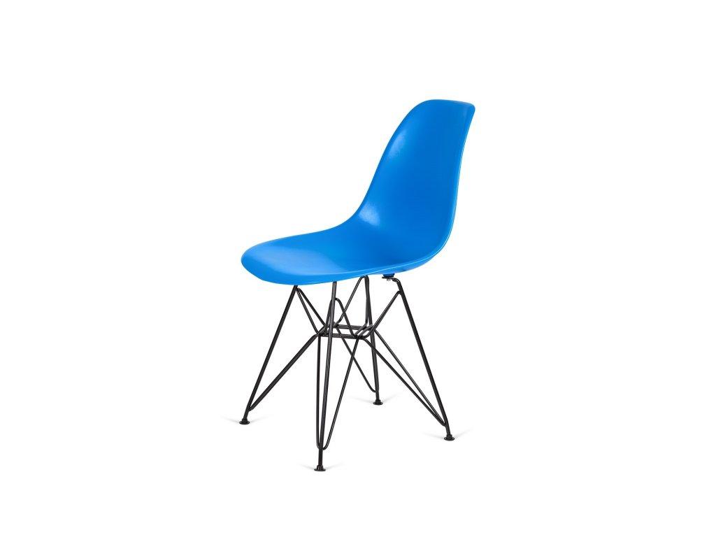Židle 130-DPP modrá #11 PP + nohy chromové kovové