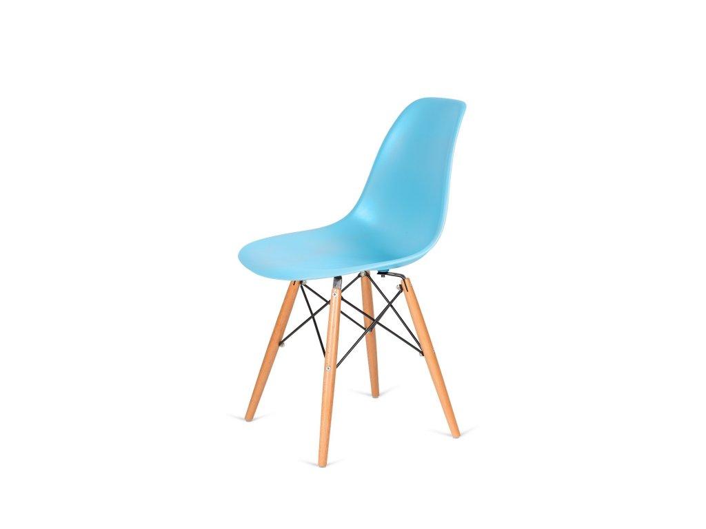 Židle 130-DPP oceán modrá #25 PP + nohy bukové