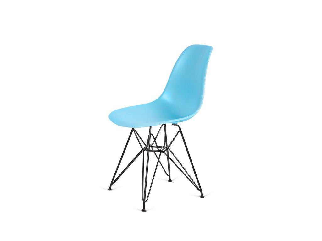 Židle 130-DPP oceán modrá #25 PP + nohy kovové černá