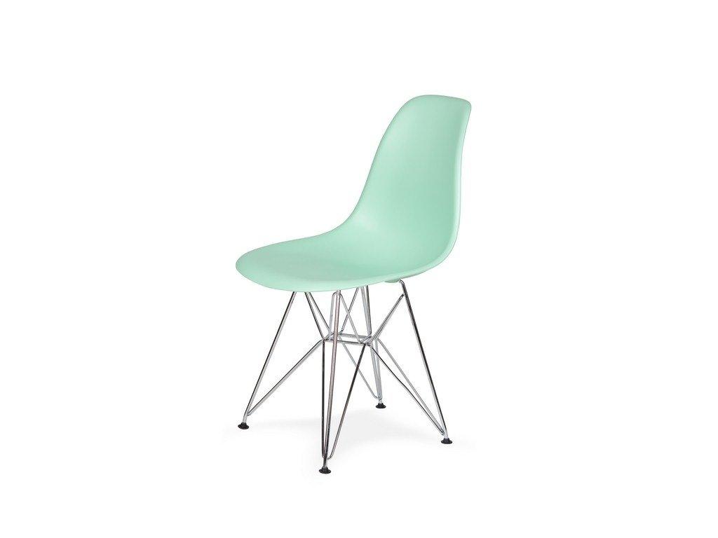 Židle 130-DPP pastelová máta #14 PP + nohy chromové