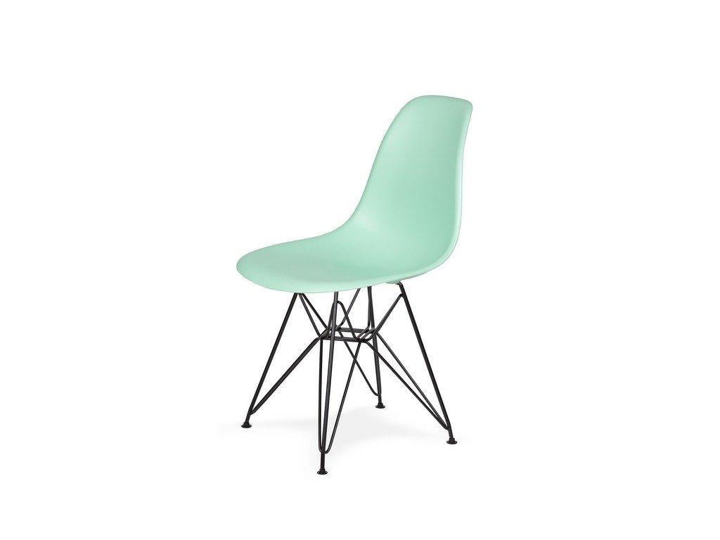 Židle 130-DPP pastelová máta #14 PP + nohy kovové černá