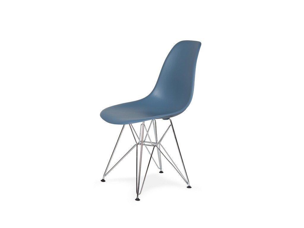 Židle 130-DPP pastelově modrá #26 PP + nohy chromové