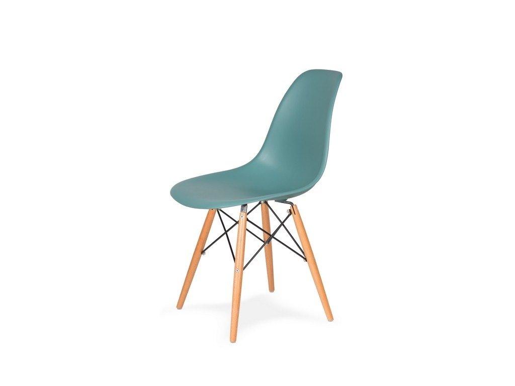 Židle 130-DPP pastelový tyrkys #29 PP + nohy bukové