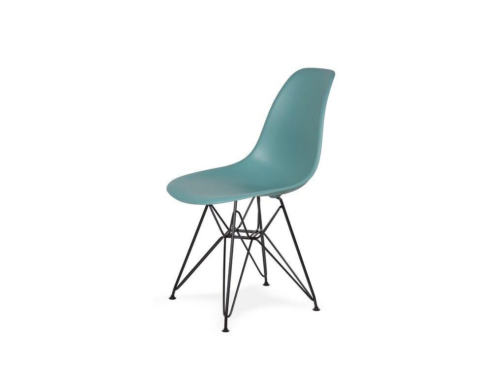 Židle 130-DPP pastelový tyrkys #29 PP + nohy kovové černá