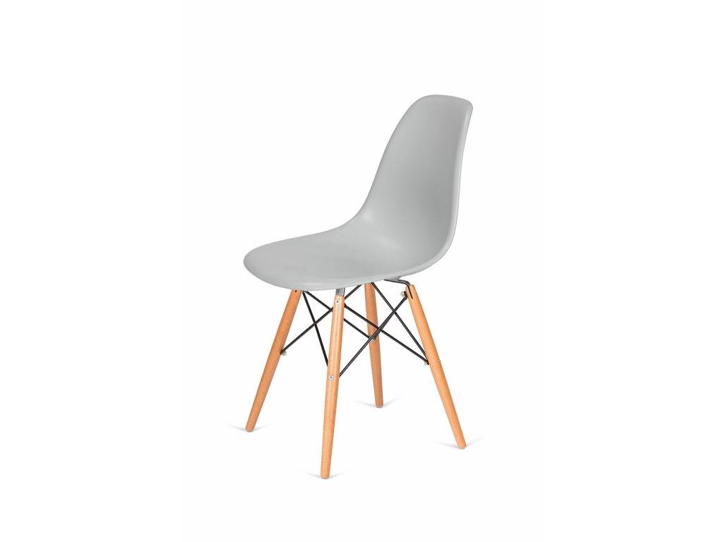 Židle 130-DPP platinová #28 abs + nohy bukové
