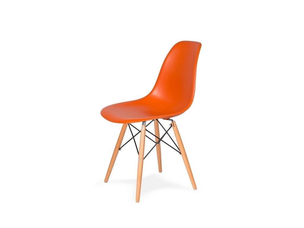 Židle 130-DPP sicilský oranž #08 PP + nohy bukové