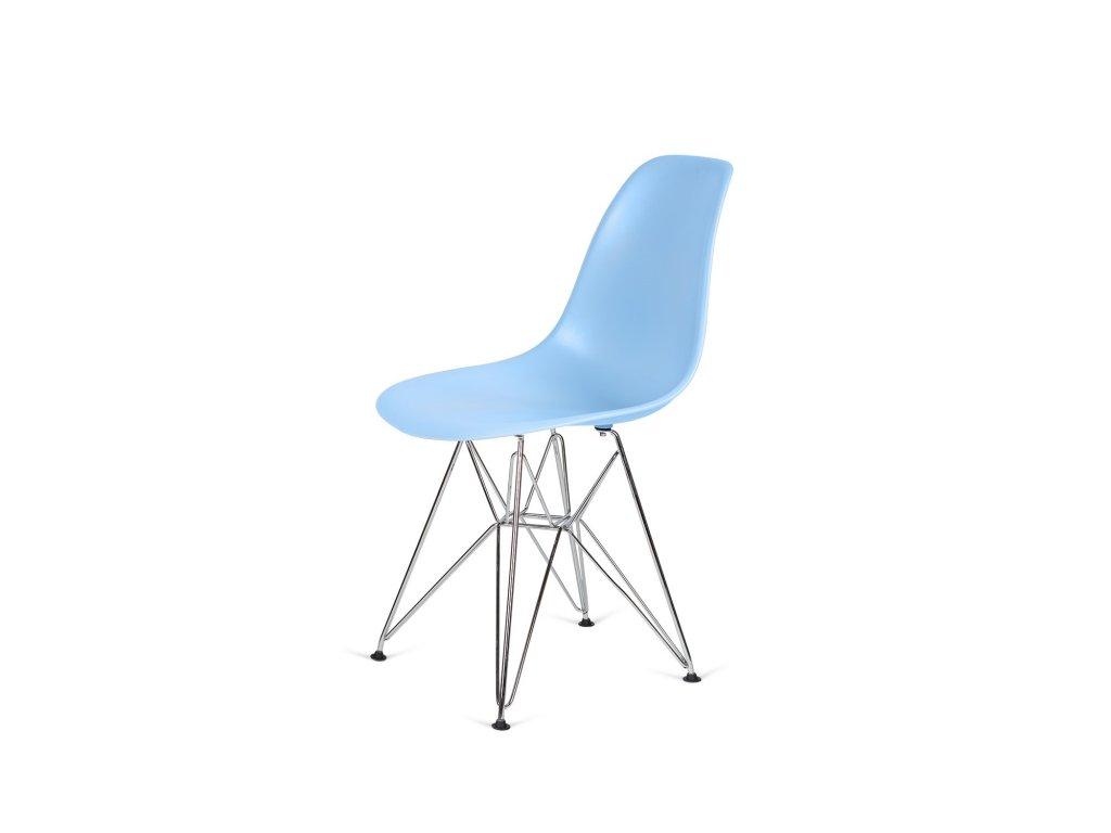 Židle 130-DPP světle modrá #12 PP + nohy chromové