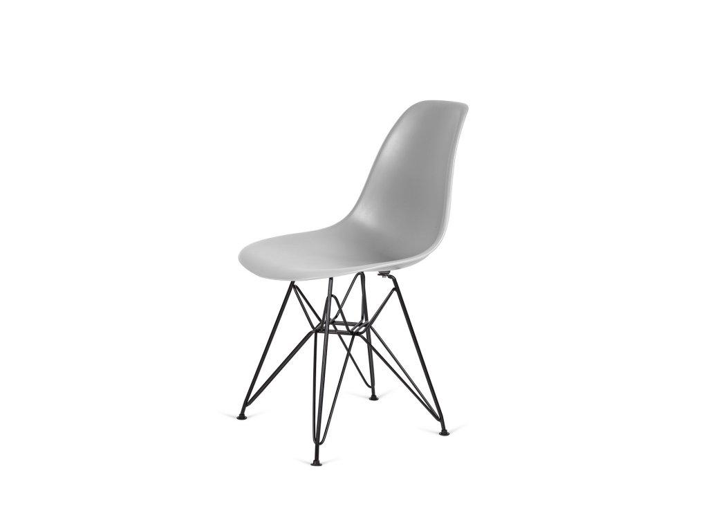 Židle 130-DPP světle šedá #05 PP + nohy kovové černá