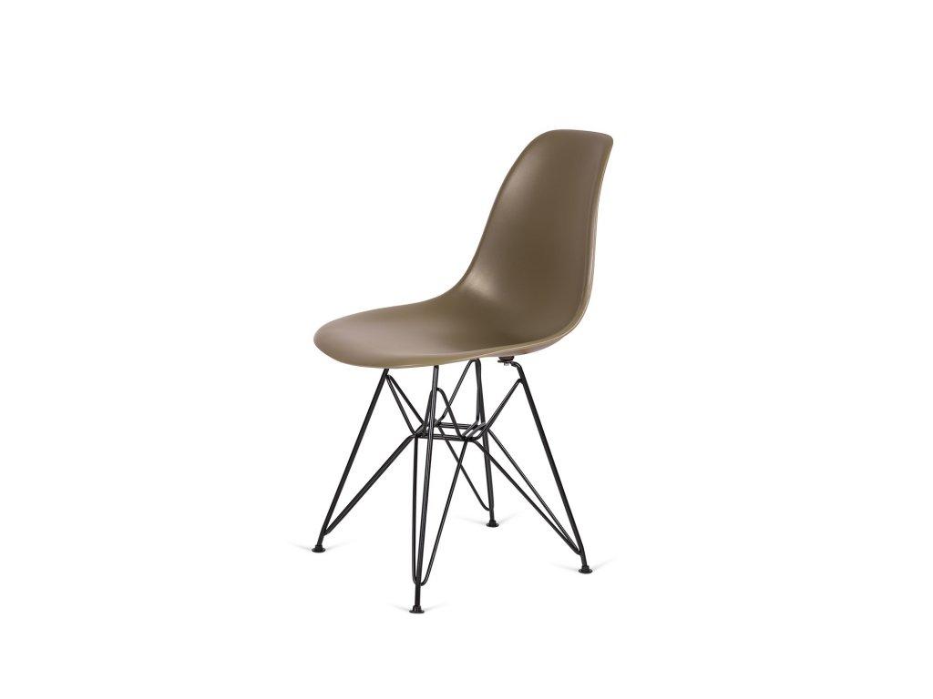 Židle 130-DPP zelený čaj #31 PP + nohy kovové černá