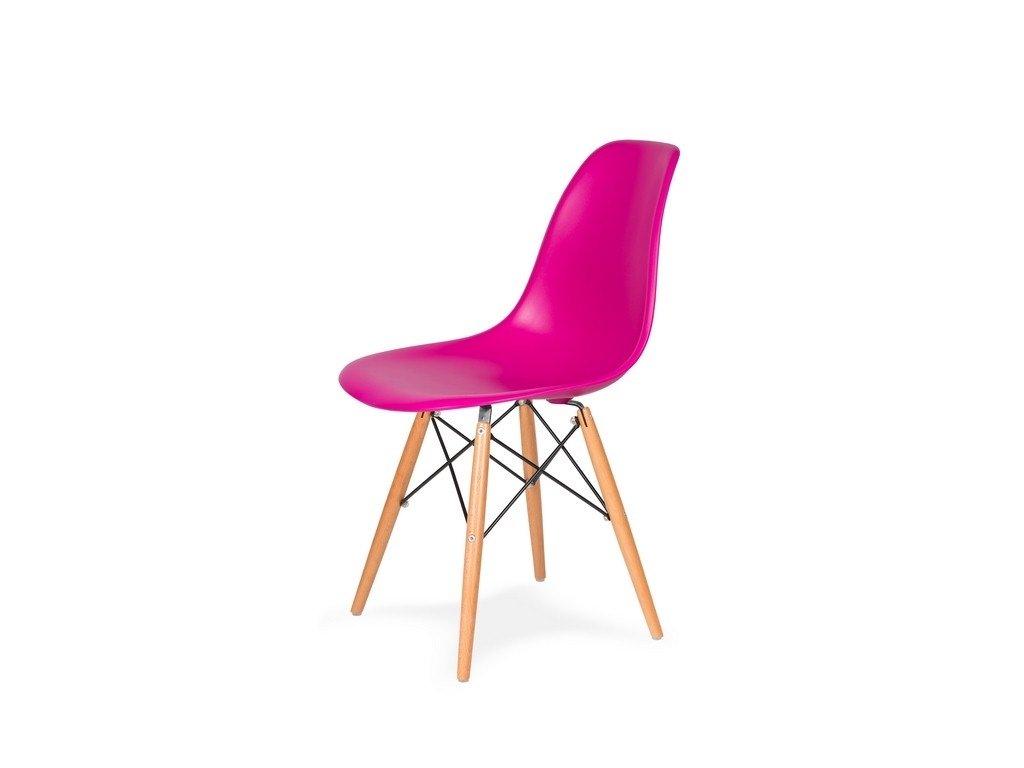 Židle 130-DPP zuřivý roz #22 PP + nohy bukové