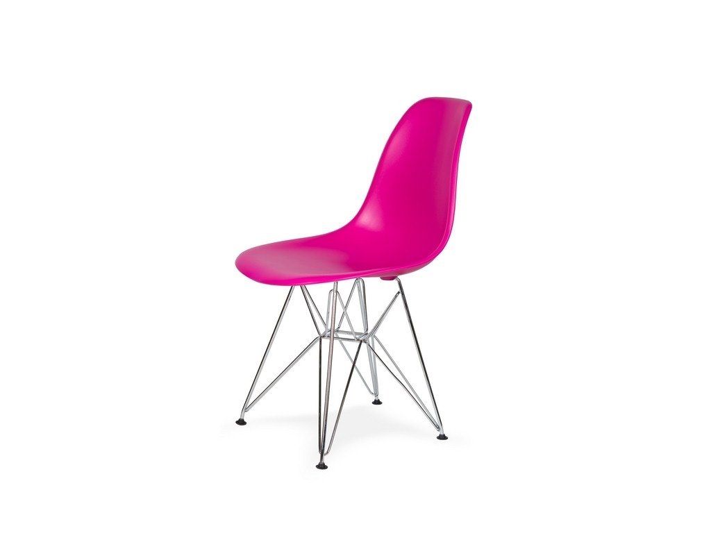 Židle 130-DPP zuřivý roz #22 PP + nohy chromové