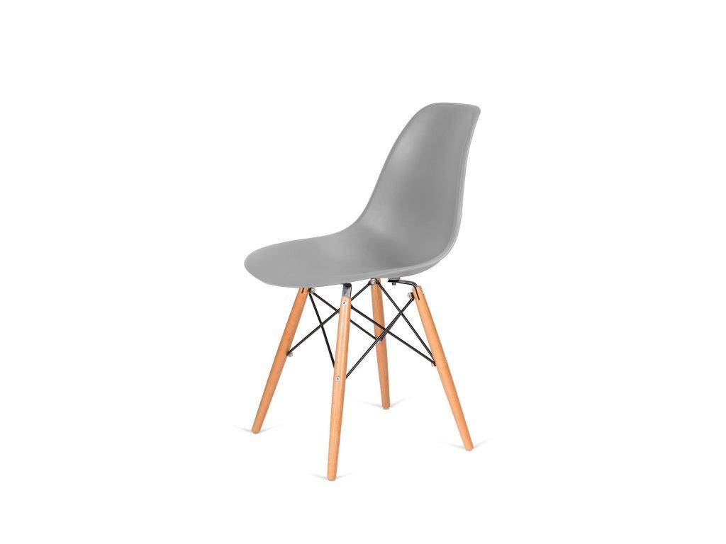 Židle 130-DPP šedá #30 PP + nohy bukové