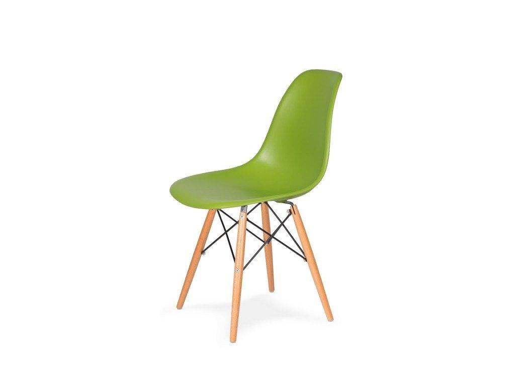 Židle 130-DPP šťavnatá zeleň #13 PP + nohy bukové
