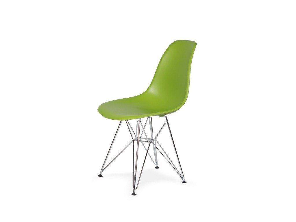 Židle 130-DPP šťavnatá zeleň #13 PP + nohy chromové