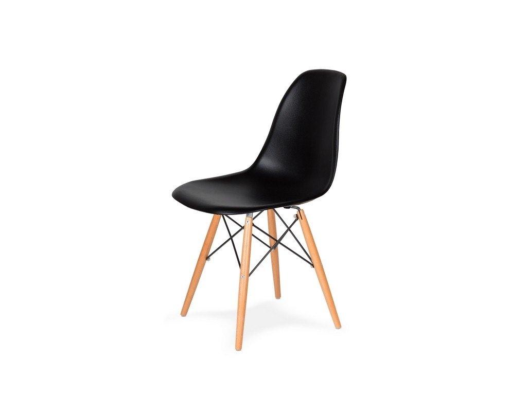 Židle 130-DPP černá #03 PP + nohy bukové