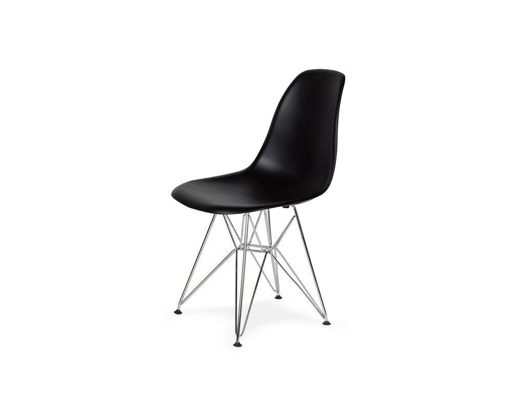 Židle 130-DPP černá #03 PP + nohy chromové