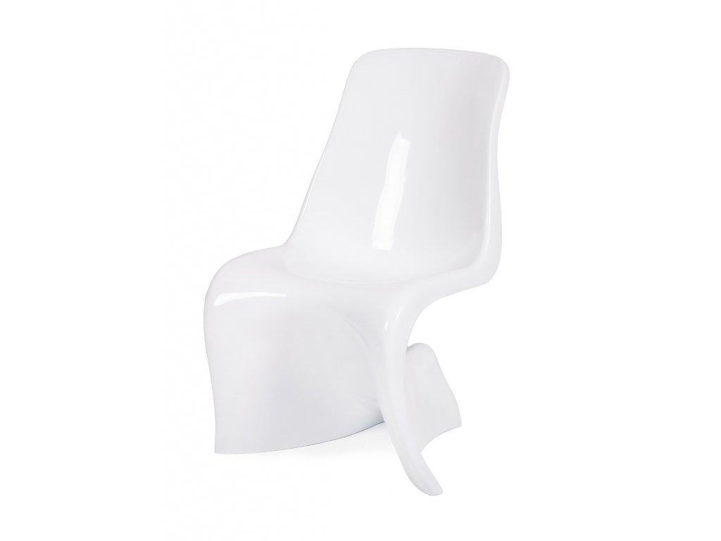 Židle HER - bílá skleněné vlákno